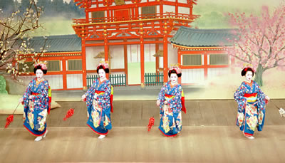 Geisha Girls Dancing