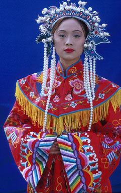 A woman in Ming dynasty dress