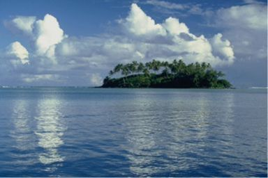 One of the smaller Cook Islands