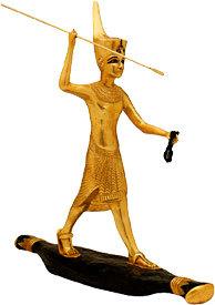 theORIGINS.com:: Sculpture King Tut Hunting, from Egypt (Egyptian Art)