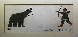 Inuit Silkscreen. Photo  from Copyright Free Photo Library