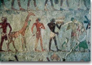 Ancient Egyptians with captured animals